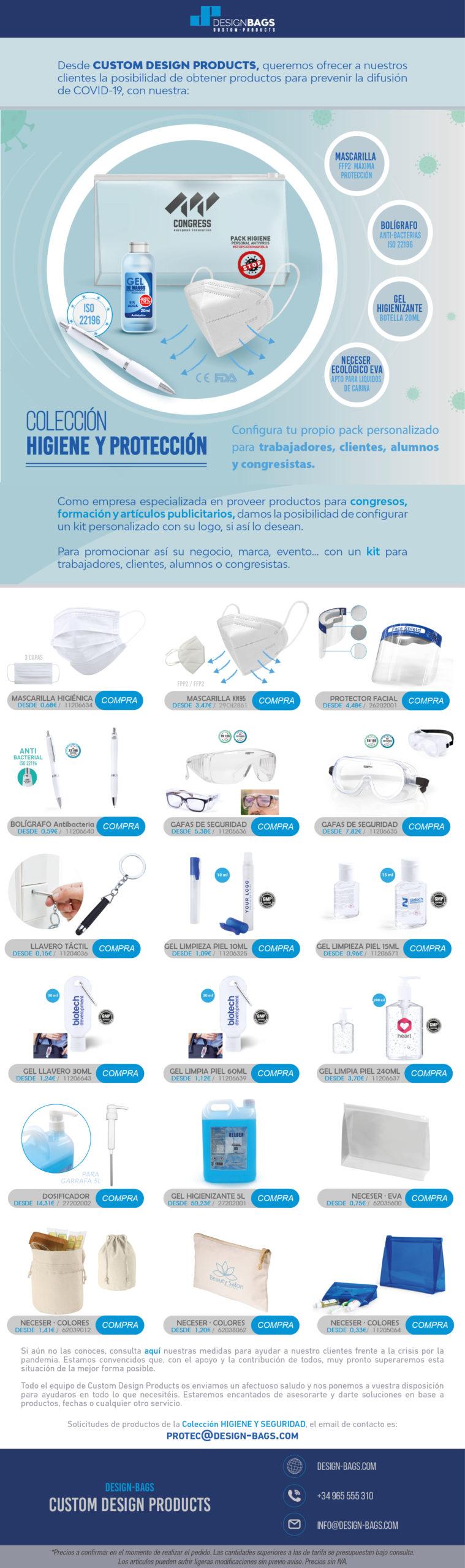 Boletín de productos de higiene y protección