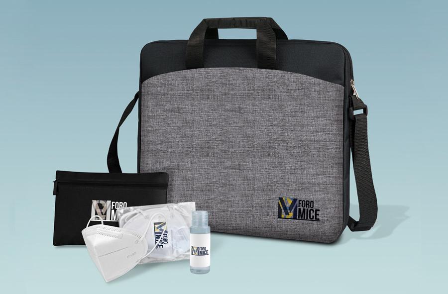 Pack congresista para el Foro MICE con kit de protección