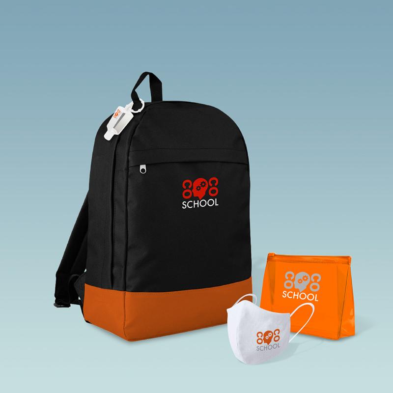 Welcome pack alumno personalizado con kit de protección