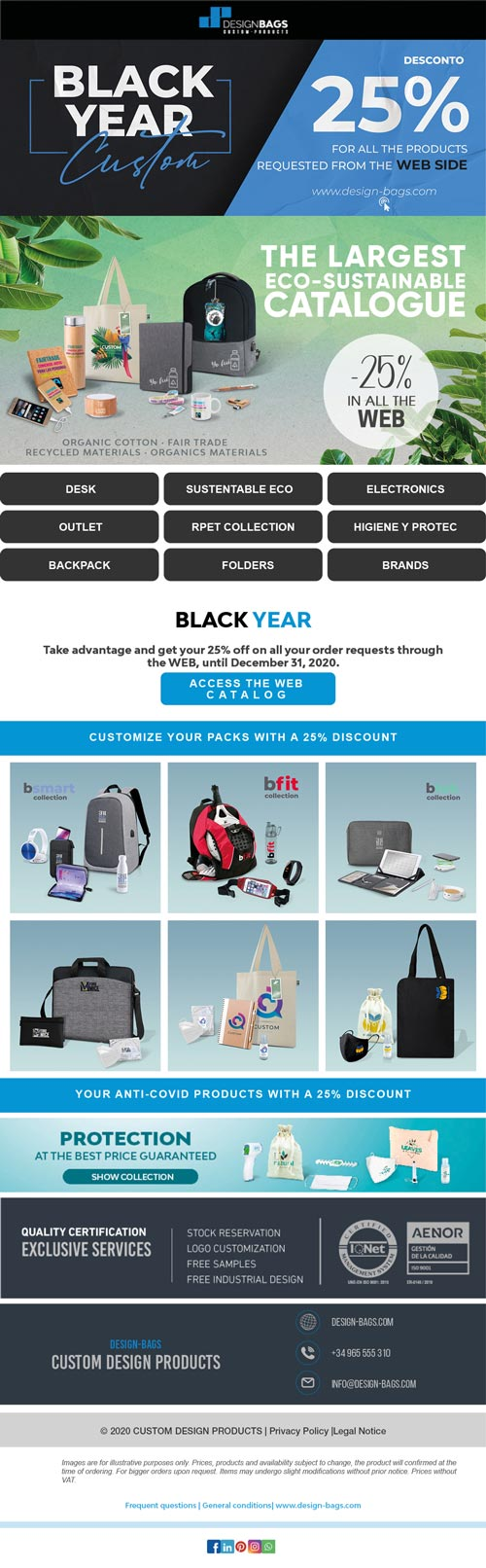 25% discount on your promotional items requested by the web
