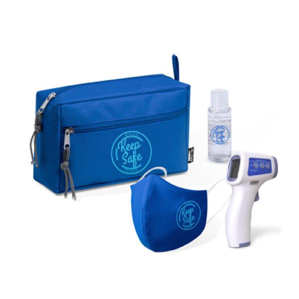 Kit de protección con neceser fabricado en rPET