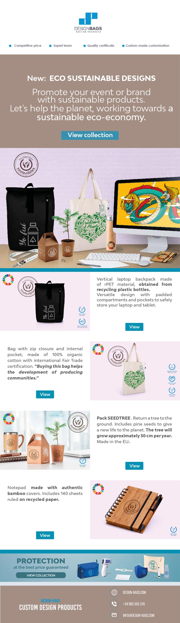 New sustainable products newsletter