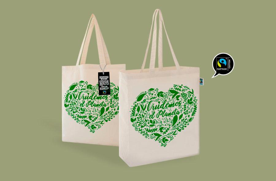 Bolsas de algodón orgánico de comercio justo para regalar a tus teletrabajadores