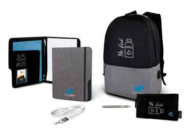 Mochilas y carteras rPET para configurar tus packs personalizados para teletrabajadores
