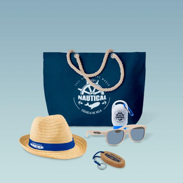 Welcome pack temático de playa