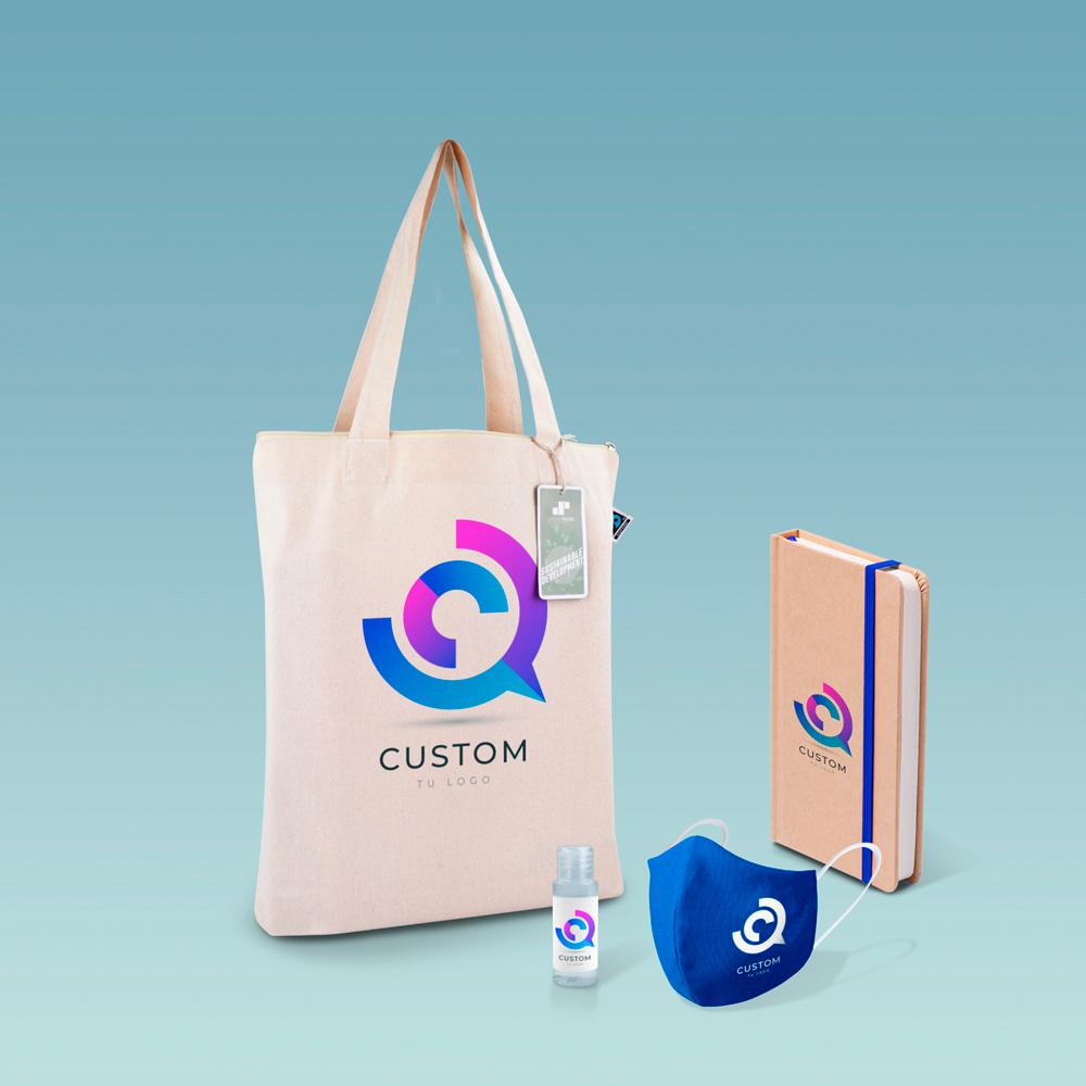 Welcome pack con bolsa de algodón orgánico