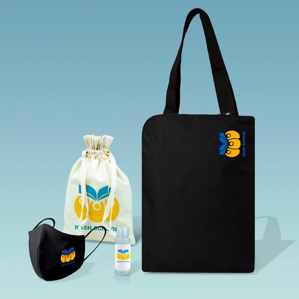 Welcome pack con cartera portadocumentos vertical